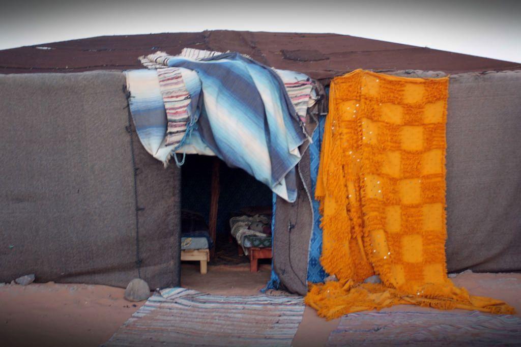 jaima en el desierto de Erg Chebbi