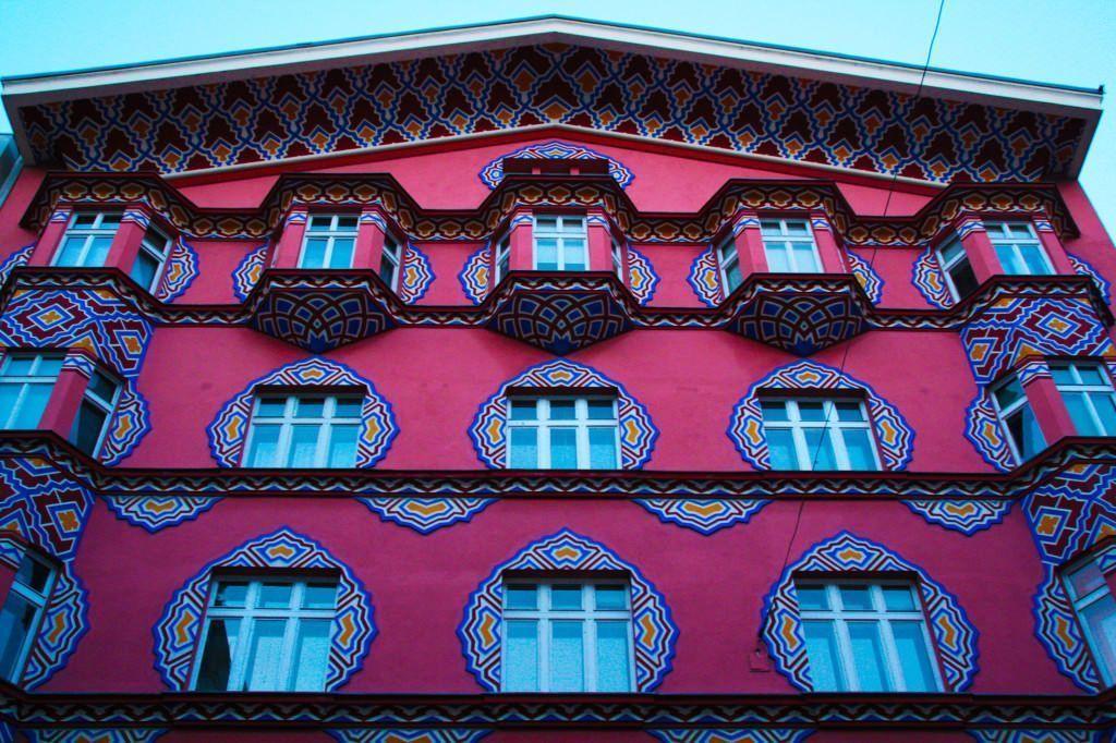 Una casa por el centro de Ljubljana