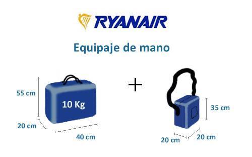 medidas maleta Ryanair