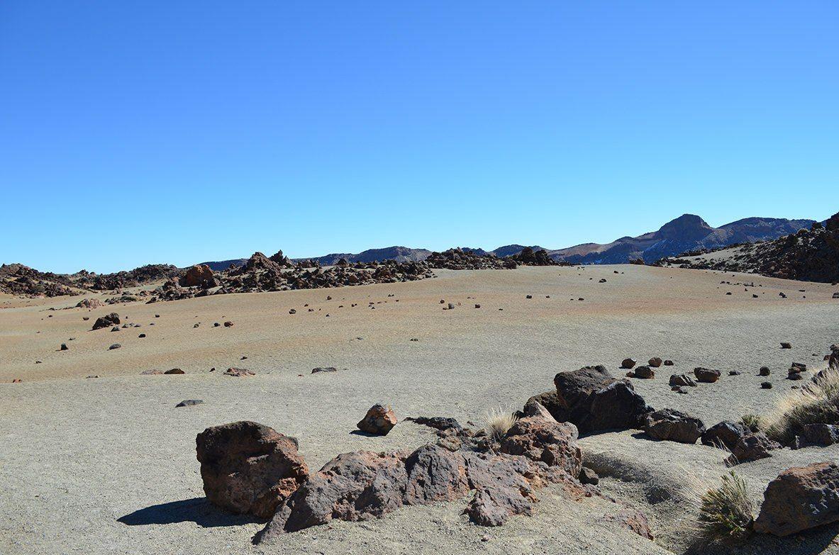 Desierto volcánico de camino al Teide