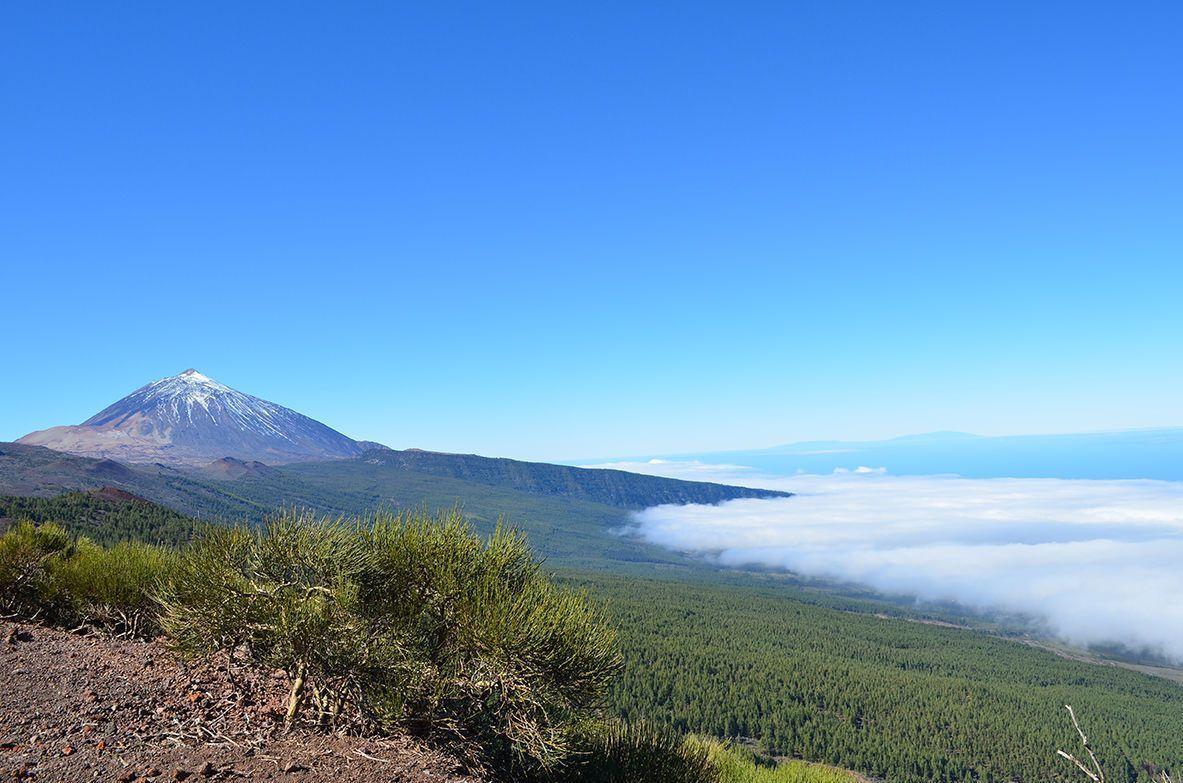 Vista aérea del Teide