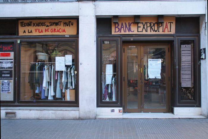 Banc Expropiat. Gracia. Barcelona