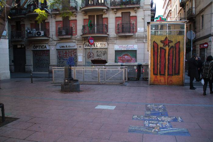 Plaza de la Revolució. Gracia. Barcelona
