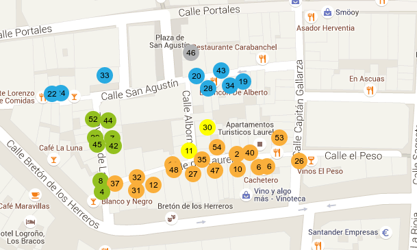 Mapa Calle Laurel