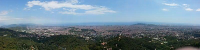 Panorámica Tibidabo. Barcelona. El viaje me hizo a mi. Blog de viajes