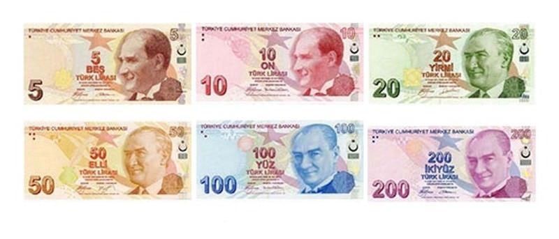 Billetes de Turquía