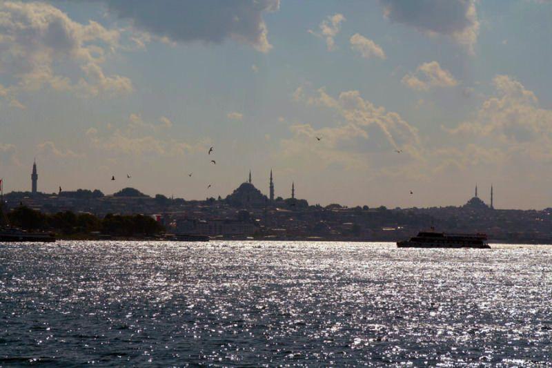 Vista de Estambul desde parte asiática