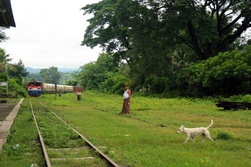 el tren en Myanmar
