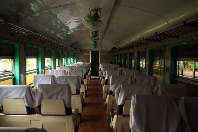Interior de un tren de primera