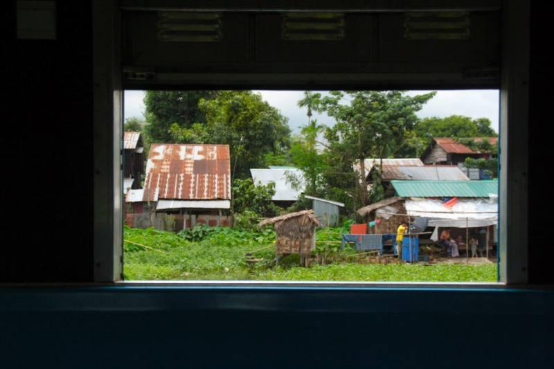 Vista desde una ventana del tren