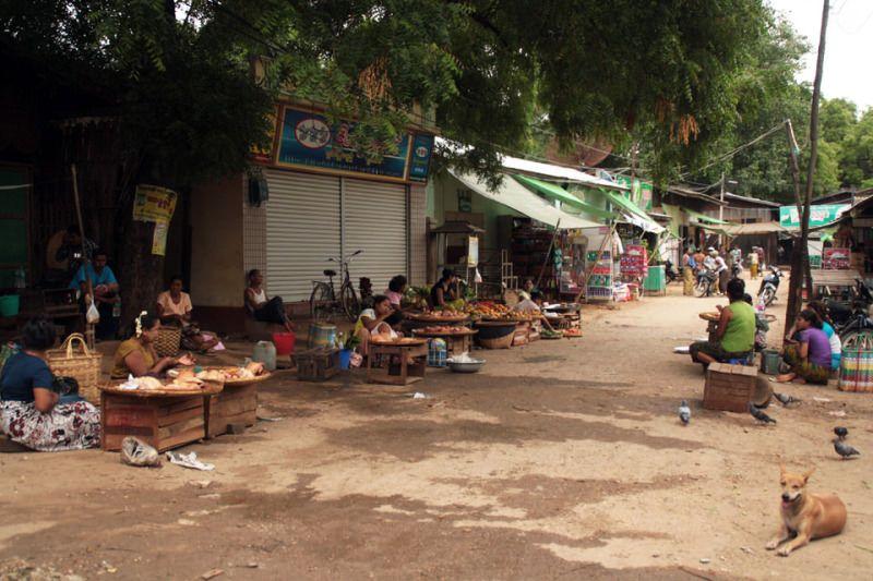 Calles tranquilas de Myanmar