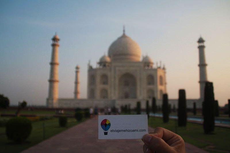 El viaje me hizo a mí en el Taj Mahal. Blog de viajes