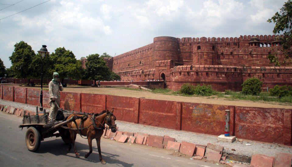 Exterior del Fuerte de Agra. India. El viaje me hizo a mí. Blog de viajes