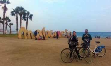 Jose y Gloria en la Malagueta. El viaje me hizo a mí. Blog de viajes