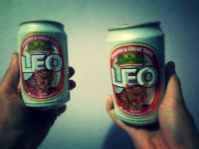 Cerveza Leo de Tailandia