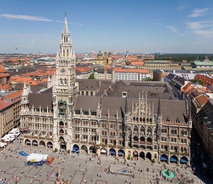 Rathaus y Marienplatz en Munich