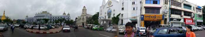 Panorámica del centro de Yangón