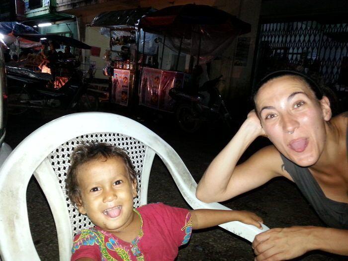 una niña de Myanmar