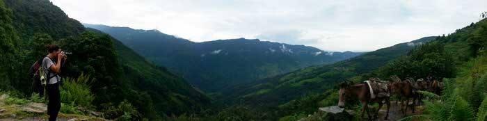 Panorámica durante el treking