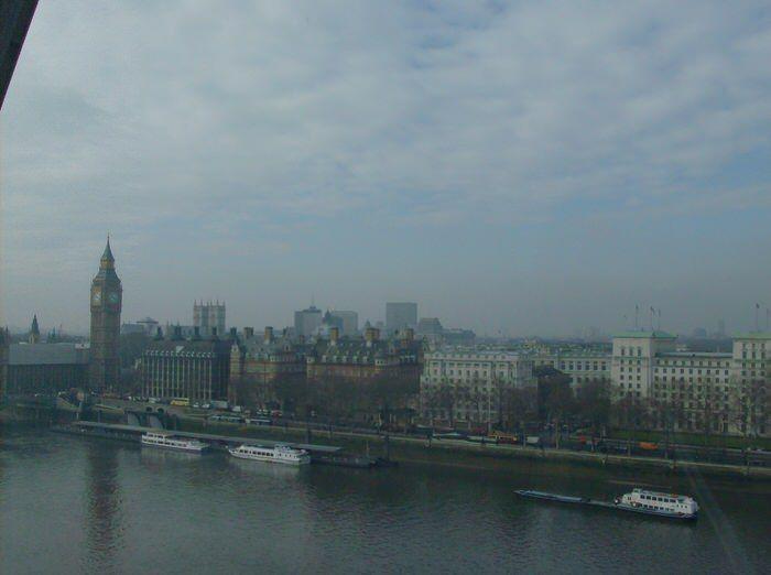 Vista desde el London Eye. el viaje me hizo a mí. Blog de viajes