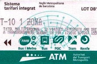 T10 para moverte por Barcelona