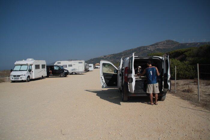 donde dormir en furgoneta en Tarifa