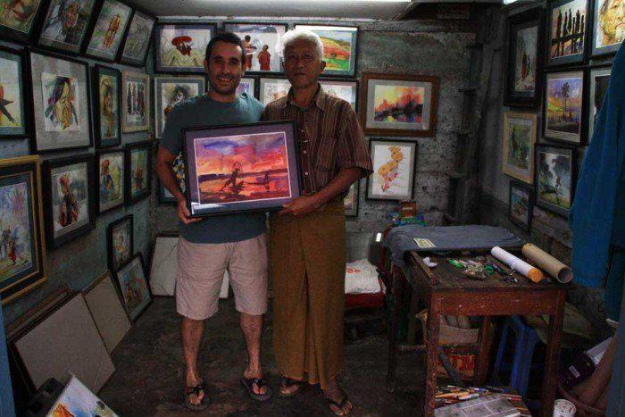Jose con el artista de Kalaw