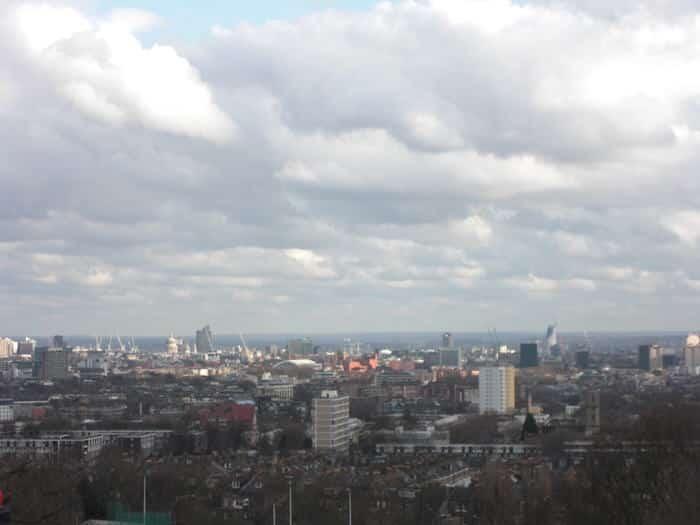 Vista de Regent´s Park en Londres