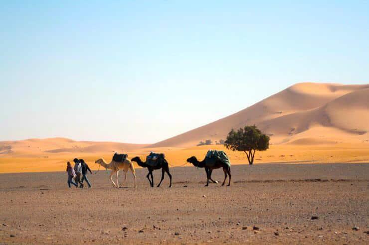 dormir en el desierto de Erg Chebbi