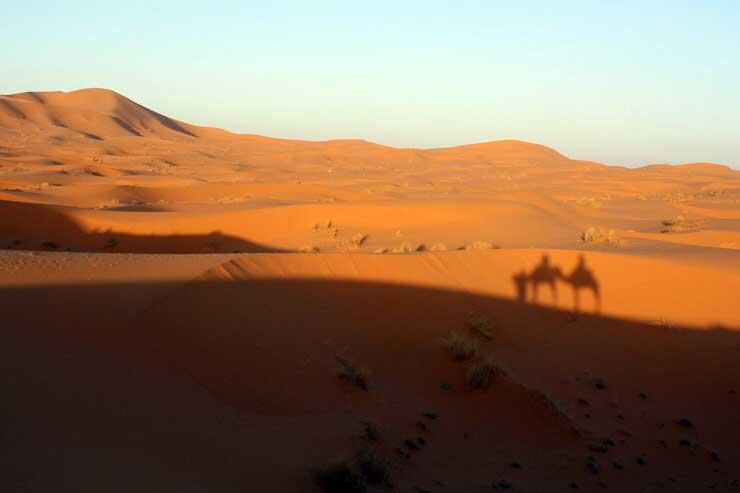paisaje en Merzouga