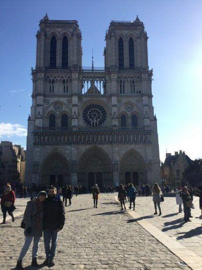 Aquí fue la primera parada del Free Tour. La Catedral de Notredame