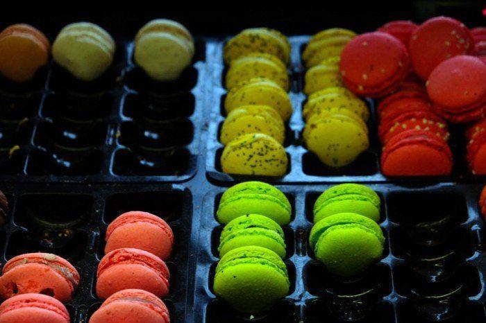Macarons de muchos colores