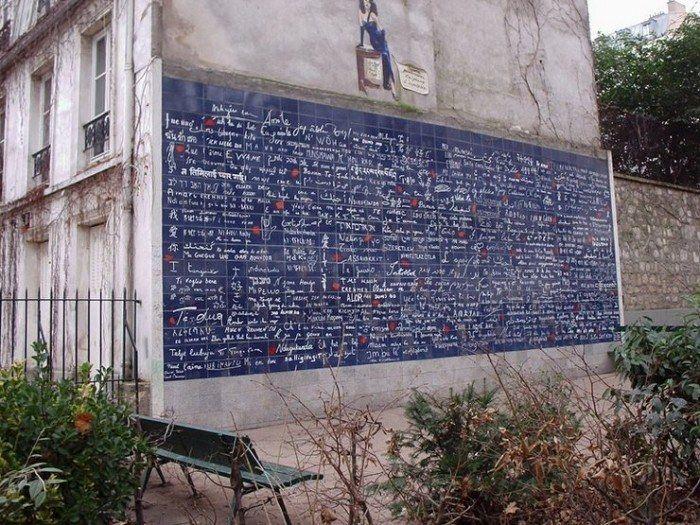 Muro de los te amo en París