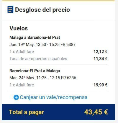 Ryanair precio barcelona. El viaje me hizo a mí