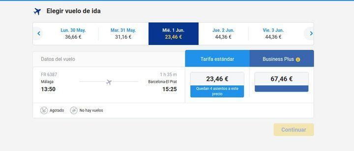 Búsqueda Ryanair junio. El viaje me hizo a mi