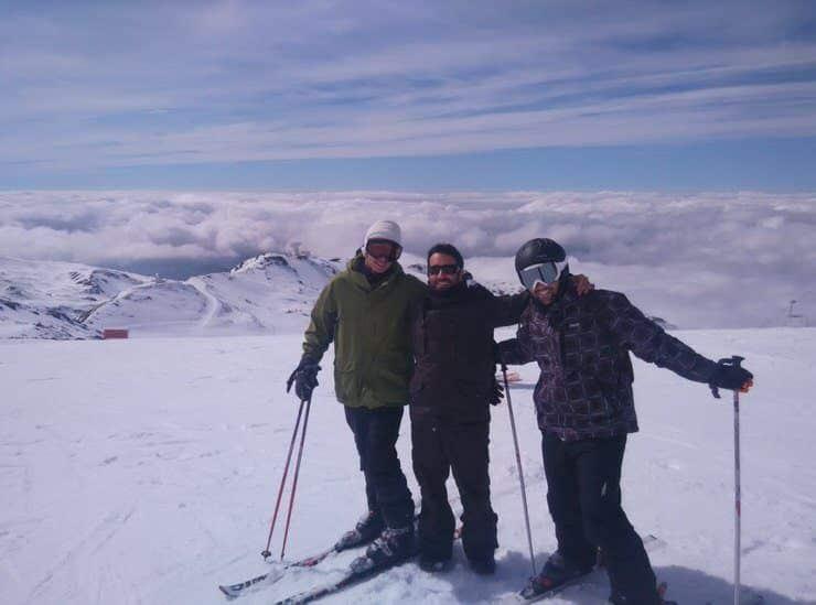 Con los amigos en Sierra Nevada. El viaje me hizo a mi