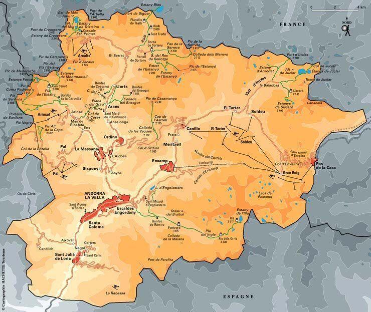 Mapa Andorra. El viaje me hizo a mi