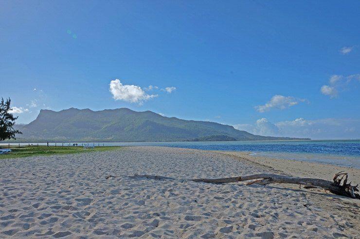 Playa de Mauricio. El viaje me hizo a mi
