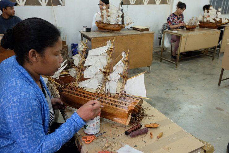 Artesanía de Barcos en Mauricio