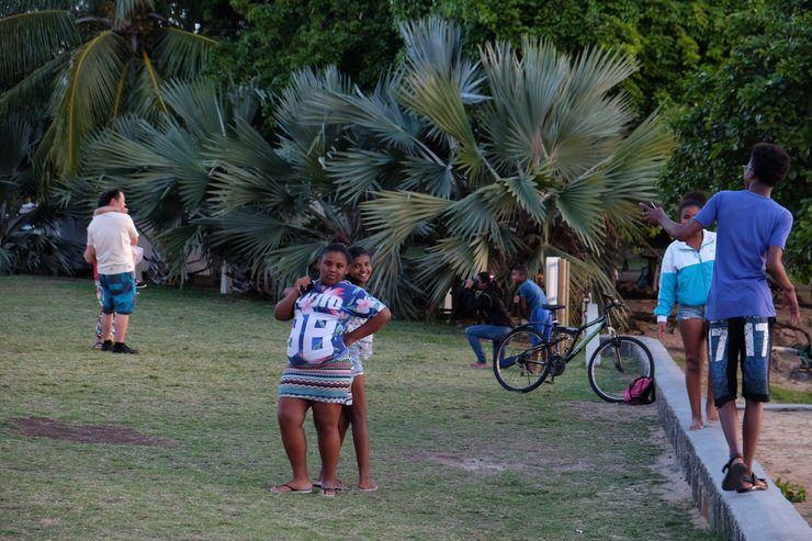 Niños jugando en Cap Malhereux