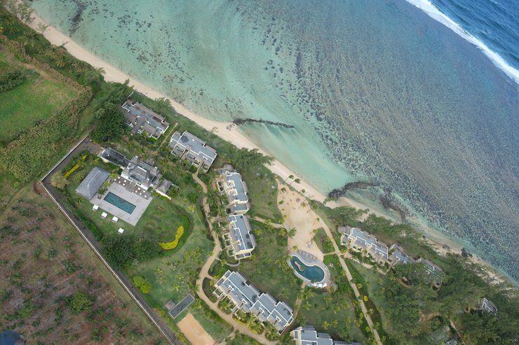 Un hotel desde el cielo. Isla Mauricio. El viaje me hizo a mi