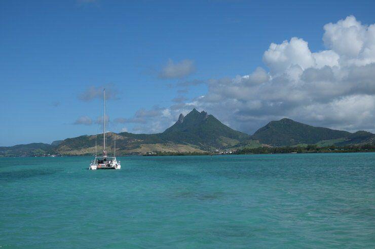 en Catamaran por Isla Mauricio