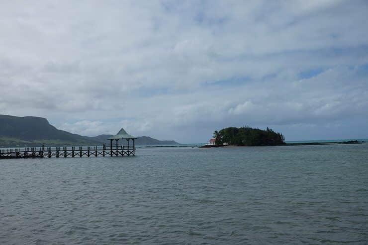 Vista de una playa en Isla Mauricio