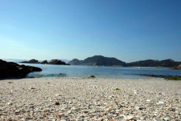 Detalle de las playas de las Islas Cíes