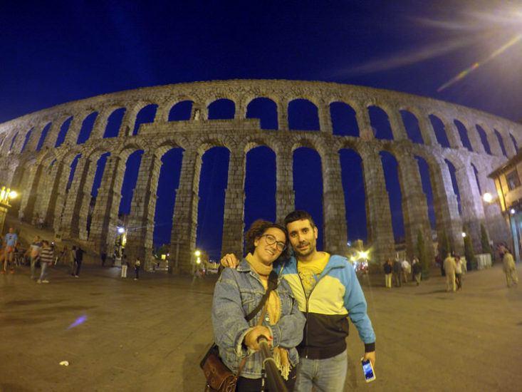 Acueducto de Segovia por la noche