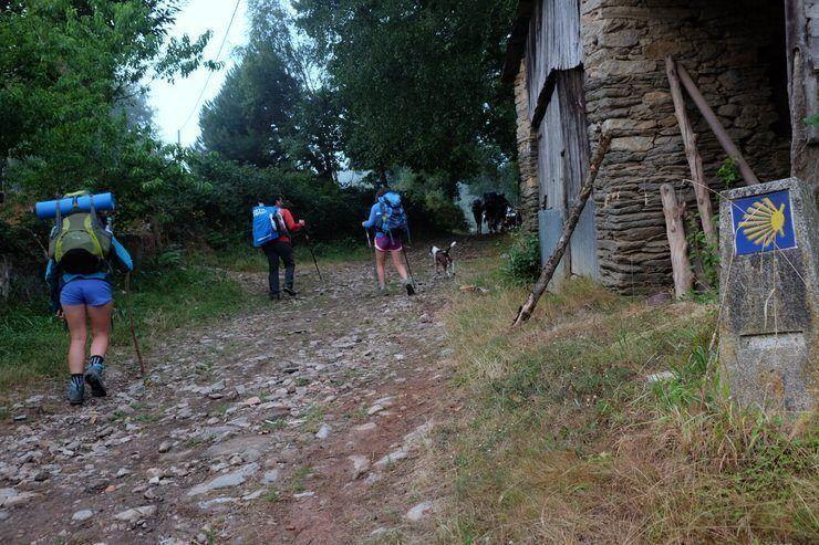 peregrinos por Galicia