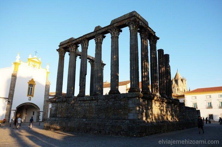 Templo de Diana en Evora