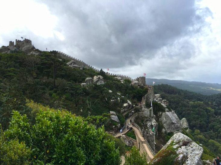 El castillo con sus impresionantes vistas