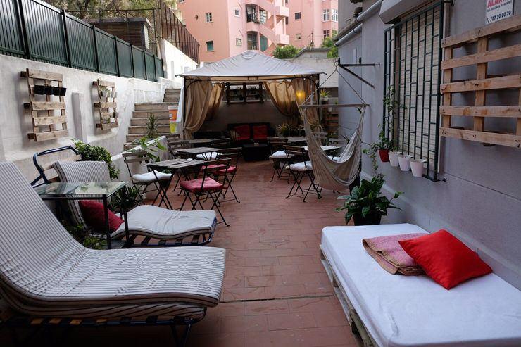 La terraza de nuestro hostel