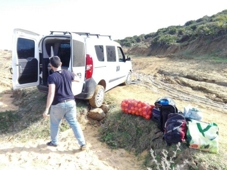 Nuestra furgoneta en Marruecos